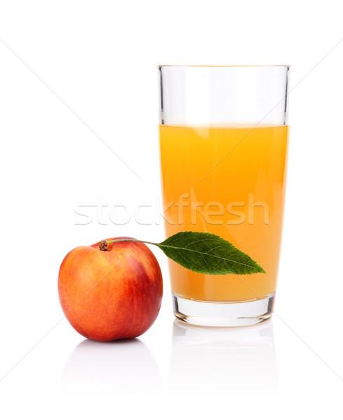 Tiro laranja nectarina suco Foto stock © dla4