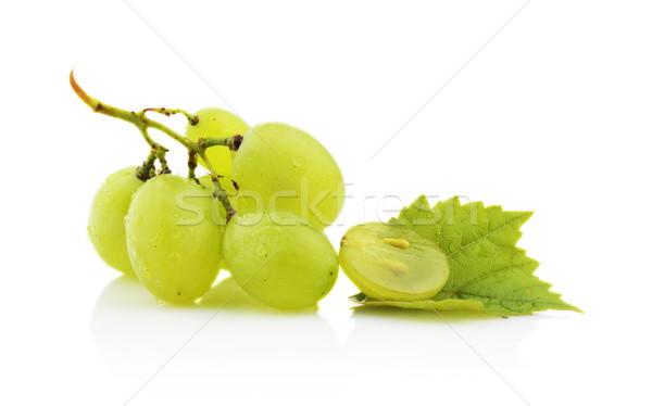 Fotografia winogron pozostawia odizolowany biały Zdjęcia stock © dla4