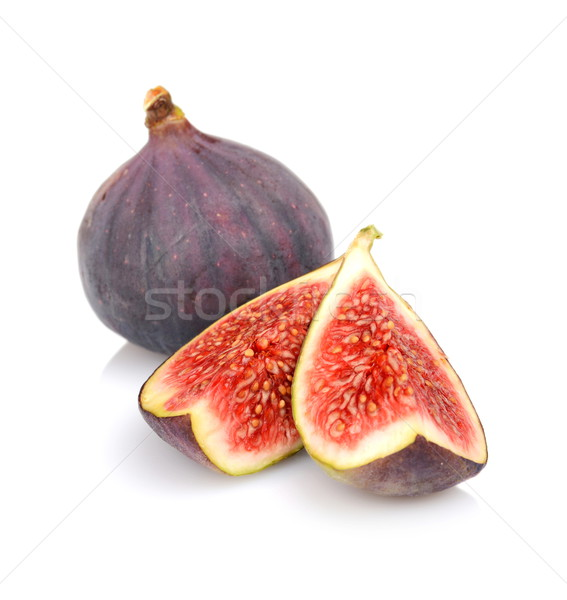 Quarters of figs isolated on white background Stock photo © dla4
