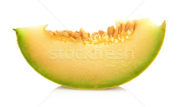 Melon galia slice, piece isolated white in studio Stock photo © dla4