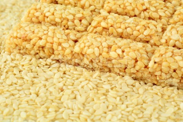 семян кунжут печенье фон завода Сток-фото © dla4