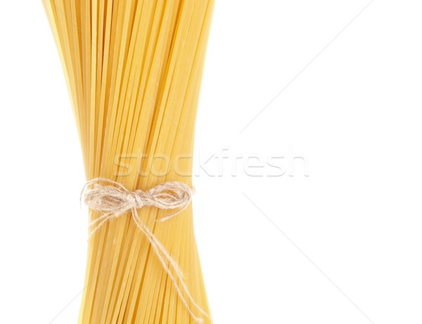 Hosszú spagetti nyers izolált fehér szalag Stock fotó © dla4