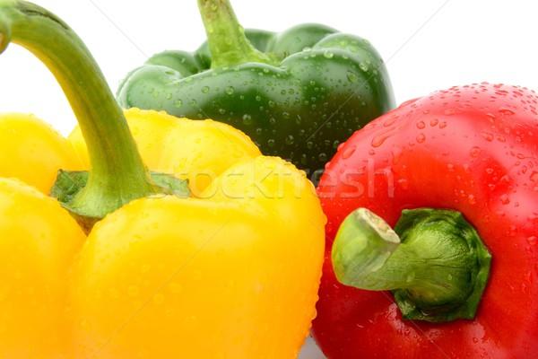 Ver três pimenta isolado branco Foto stock © dla4