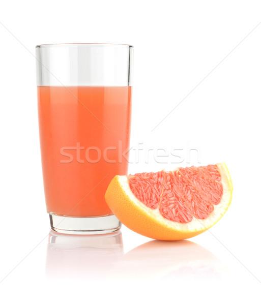 Stúdiófelvétel grapefruit dzsúz negyed izolált fehér Stock fotó © dla4