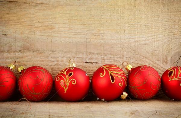 нижний линия красный Рождества украшения Сток-фото © dla4