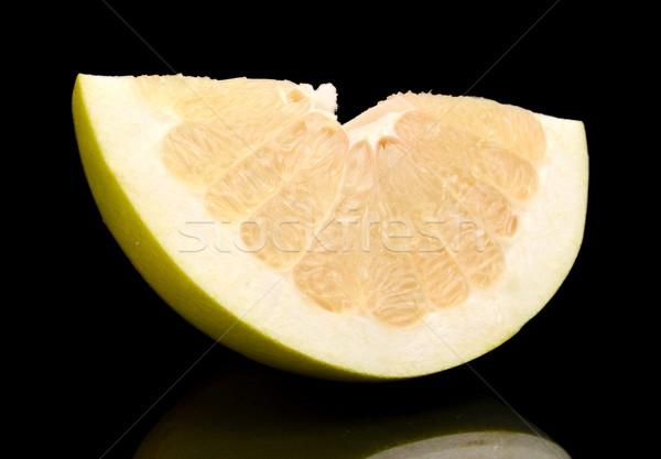 四半期 中国語 グレープフルーツ 孤立した 黒 食品 ストックフォト © dla4