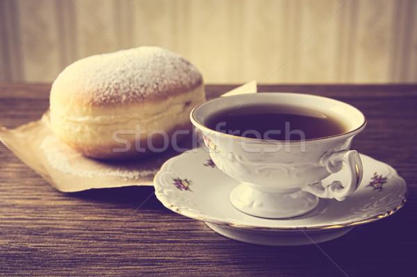 Pączek kubek kawy pokój pączek tapety Zdjęcia stock © dla4