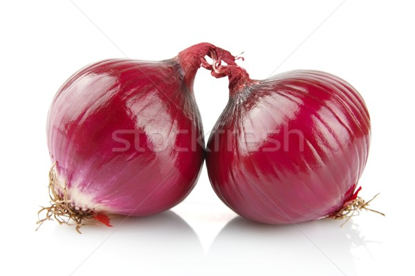 Red onions isolated on white Stock photo © dla4