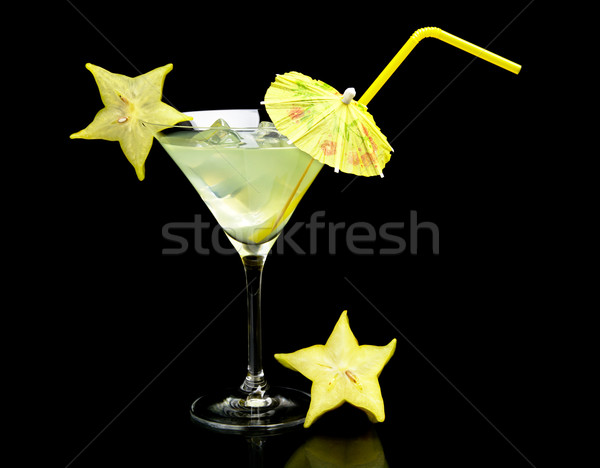 Mojito drinken zwarte kosmopolitisch Stockfoto © dla4