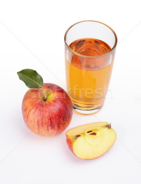 Shot rode appel sap Stockfoto © dla4