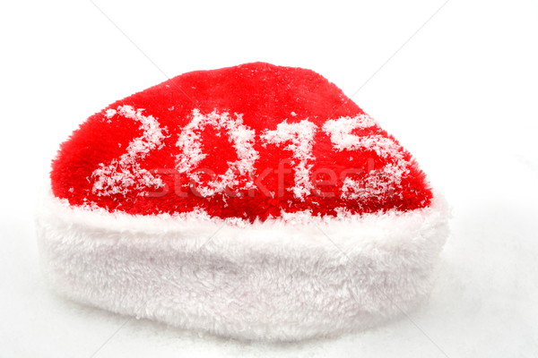 Santa claus christmas red cap 2015 new year on snow Stock photo © dla4