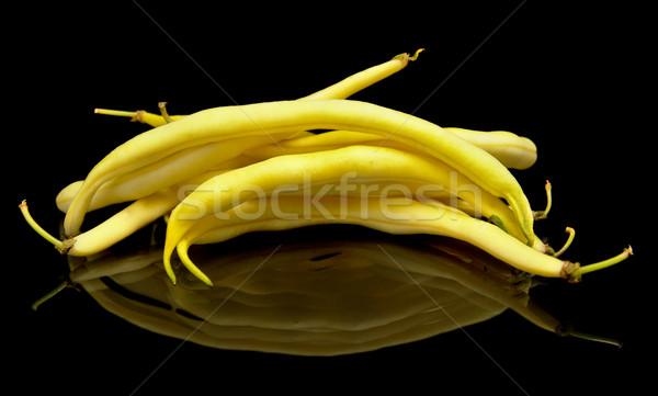 Amarillo frijoles negro fondo grupo Foto stock © dla4