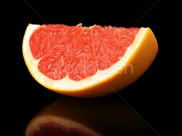 四半期 グレープフルーツ 孤立した 黒 ストックフォト © dla4