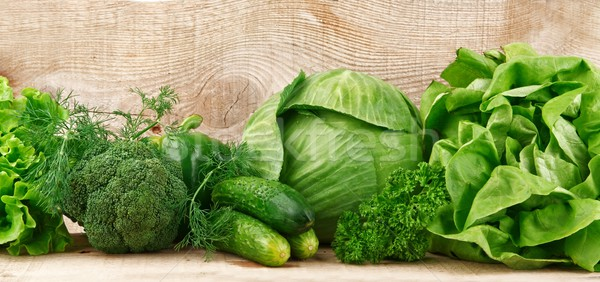 Group of green vegetables  Stock photo © dla4