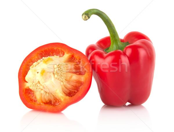 Rood bel paprika geïsoleerd witte Stockfoto © dla4