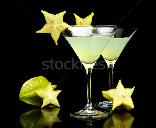 Kilátás italok fekete kozmopolita klub buli Stock fotó © dla4