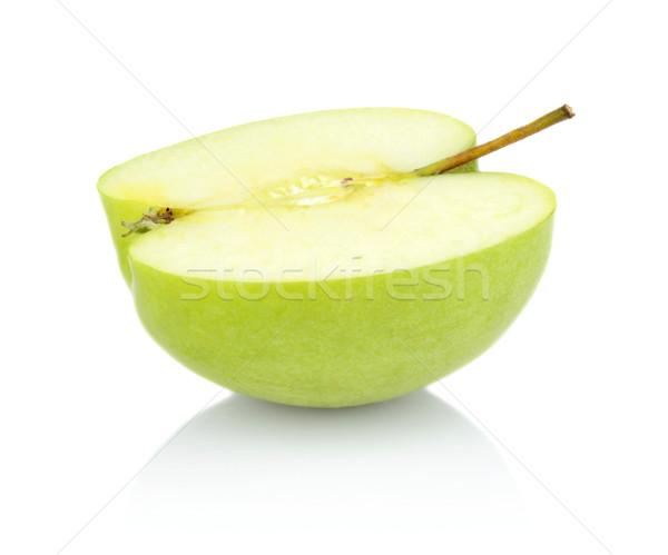 Verde manzana corte mitad aislado Foto stock © dla4