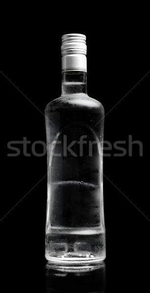 Bouteille vodka permanent isolé noir Photo stock © dla4