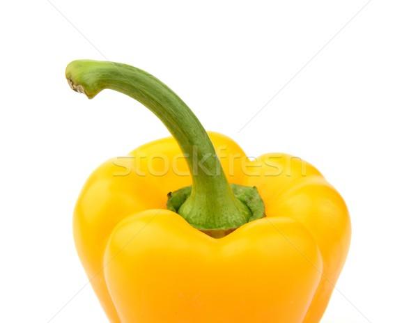 Geel peper top geïsoleerd Stockfoto © dla4