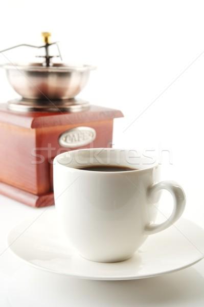 Copo café pires moinho branco xícara de café Foto stock © dla4