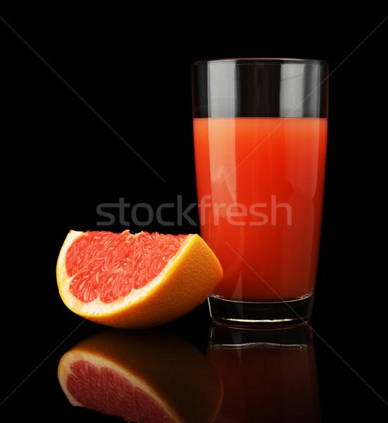 グレープフルーツ ジュース 四半期 孤立した 黒 ストックフォト © dla4