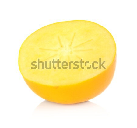 Closeup view center core kaki star isolated white Stock photo © dla4