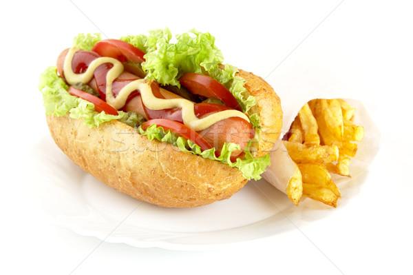hot dog zutaten platte wei stock foto tadeusz wejkszo dla4 7739677 stockfresh. Black Bedroom Furniture Sets. Home Design Ideas