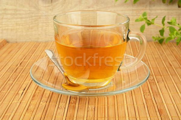Кубок чай блюдце лимона таблице Сток-фото © dla4