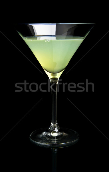 Close-up view of cosmo margarita drink on black Stock photo © dla4