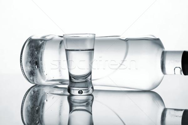üveg üveg vodka izolált fehér közelkép Stock fotó © dla4