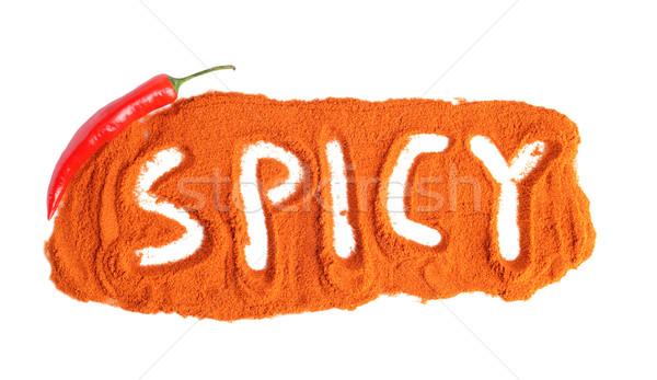 Picante pimenta de caiena pimenta pimenta isolado Foto stock © dla4