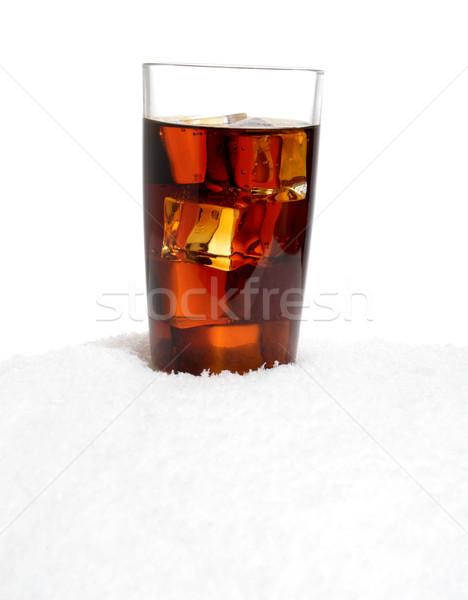 Glas cola sneeuw witte zomer Stockfoto © dla4