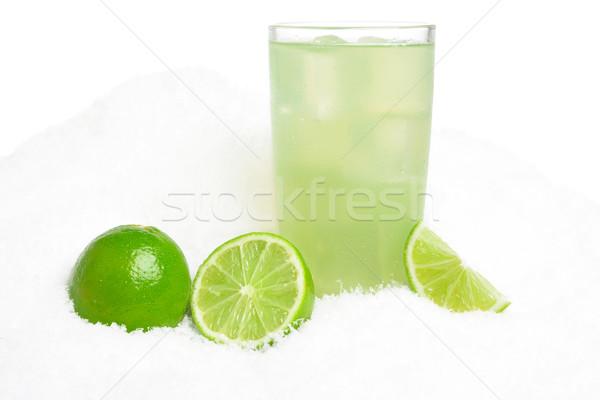 üveg citrus dzsúz jég hó fehér Stock fotó © dla4