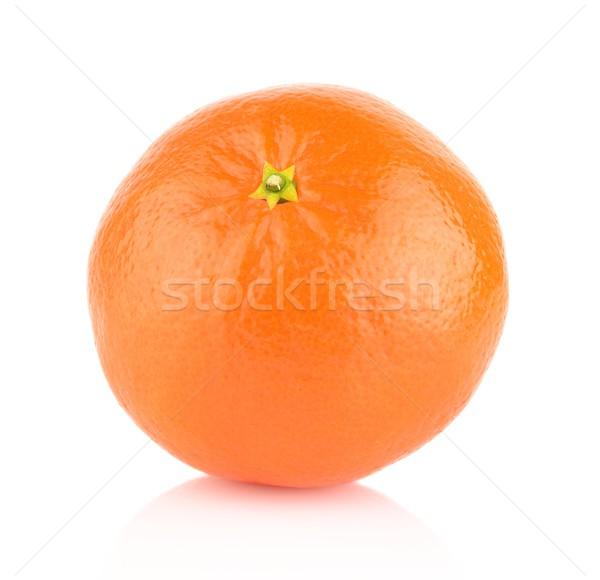 Studio shot one,single mandarine isolated on white Stock photo © dla4