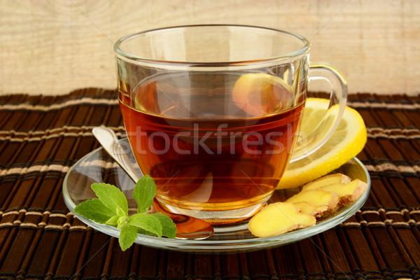Gengibre marrom limão de folha Foto stock © dla4
