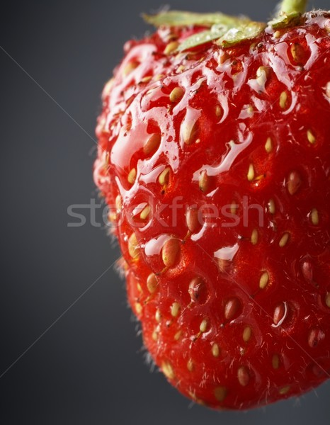 Fresa naturales oscuro macro vista todo Foto stock © dla4