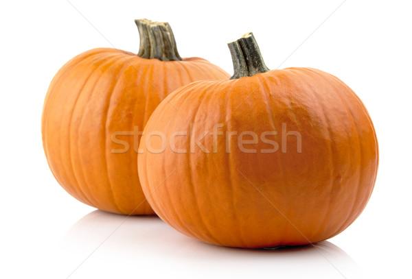 Pompoenen geïsoleerd witte oranje vakantie Stockfoto © dla4