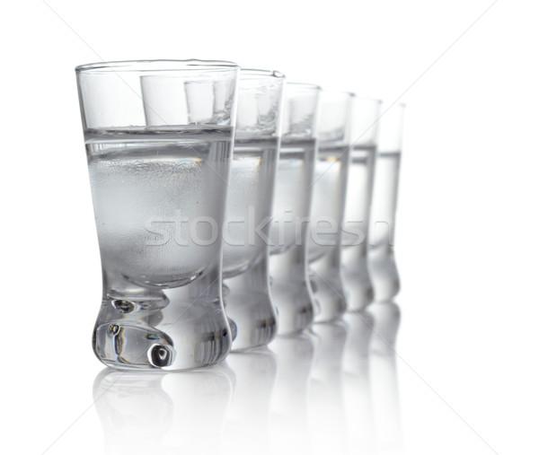 多くの 眼鏡 ウォッカ 孤立した 白 クローズアップ ストックフォト © dla4
