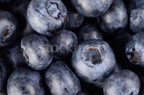 Macro closeup view group fresh blueberries background  Stock photo © dla4