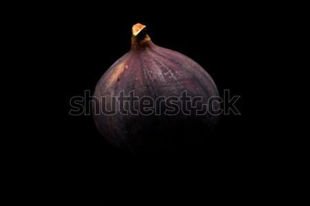 Een vijg geïsoleerd zwarte voedsel natuur Stockfoto © dla4