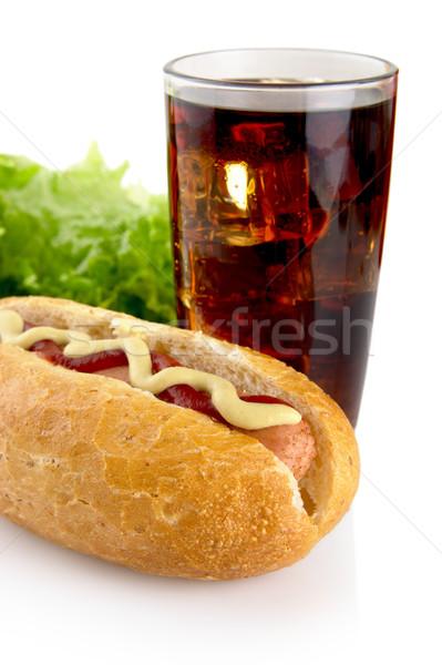 Ketchup lattuga caldo cani insalata bianco Foto d'archivio © dla4