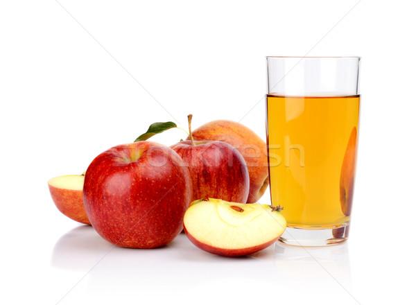 Primer plano tiro manzana roja jugo Foto stock © dla4
