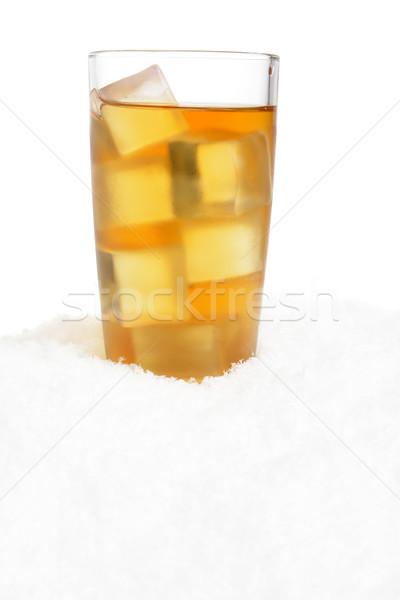 Buzlu çay kar beyaz buz uzay Stok fotoğraf © dla4