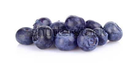 Assortment of fresh blueberries isolated white  Stock photo © dla4