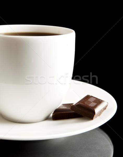 Copo café chocolate pires café preto preto Foto stock © dla4