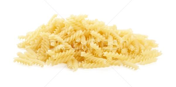 Many fusilli pasta isolated on white  Stock photo © dla4