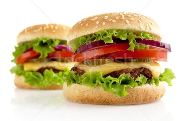 Grande isolado branco comida salada alimentação Foto stock © dla4