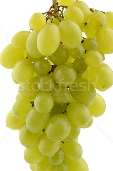 Colgante uvas verdes blanco aislado verde Foto stock © dla4