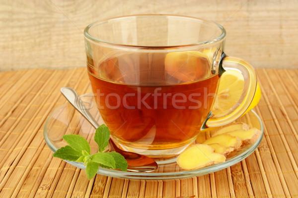 Gengibre limão de tabela beber Foto stock © dla4