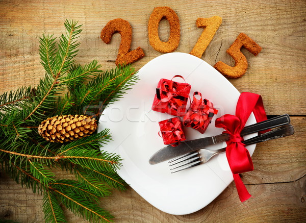 New year's Eve 2015 in red Stock photo © dla4